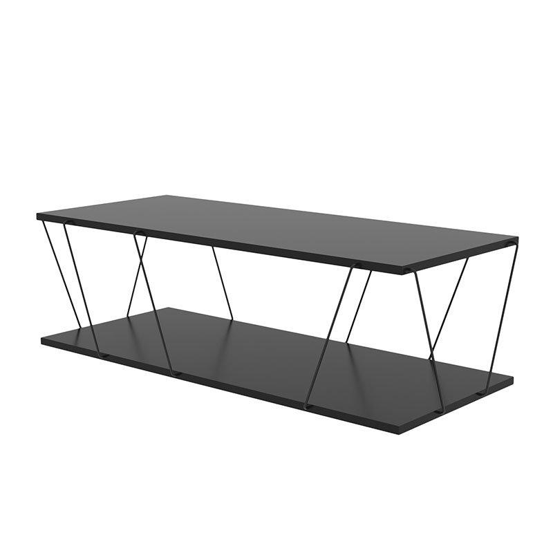 Τραπέζι σαλονιού PWF-0426 pakoworld μαύρο 120x30x50εκ
