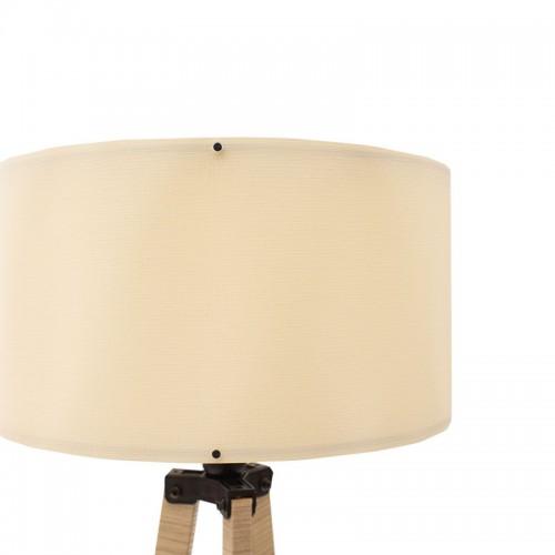 Φωτιστικό δαπέδου PWL-0001 pakoworld Ε27 white wash-λευκό Φ38x140εκ
