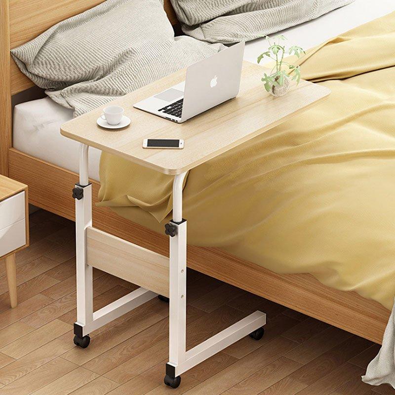 Βοηθητικό τραπέζι Talf pakoworld τροχήλατο φυσικό-λευκό 60x40x85εκ