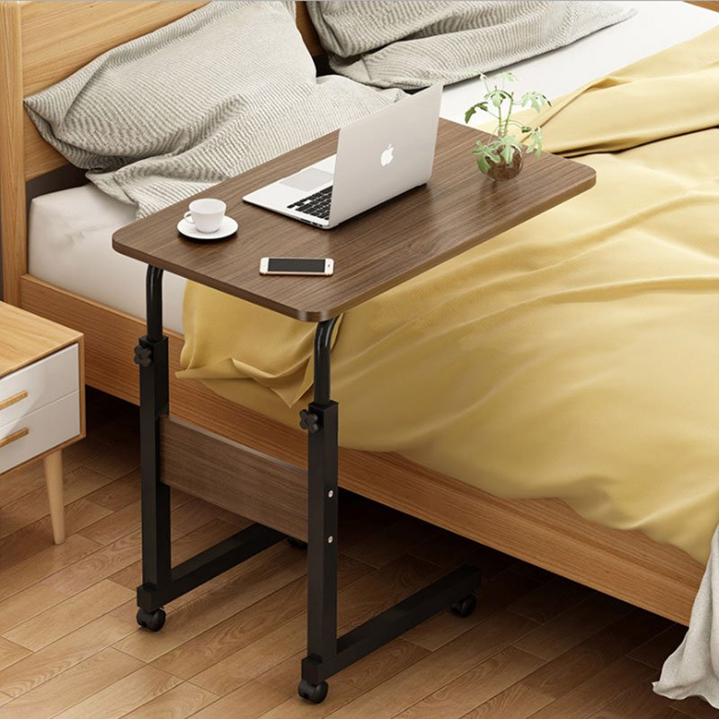 Βοηθητικό τραπέζι Talf pakoworld τροχήλατο μαύρο-καρυδί 60x40x85εκ