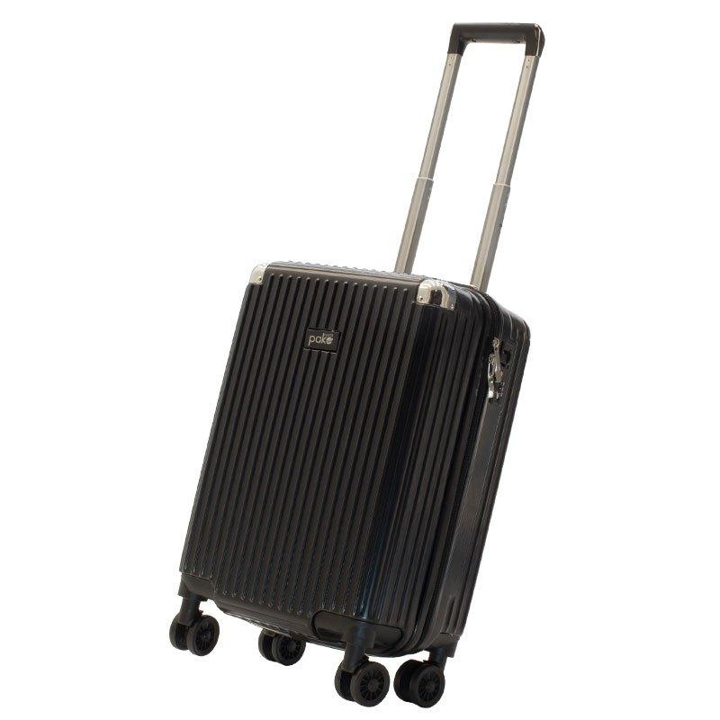 Βαλίτσα καμπίνας Venezia pakoworld με 4 ρόδες σκληρή από ABS+PC μαύρο 36,5x25x57,5εκ