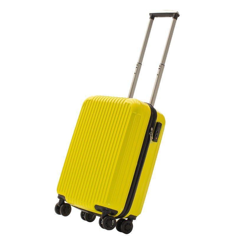 Βαλίτσα καμπίνας Lido pakoworld με 4 ρόδες σκληρή από ABS+PC κίτρινο 35x23x56εκ