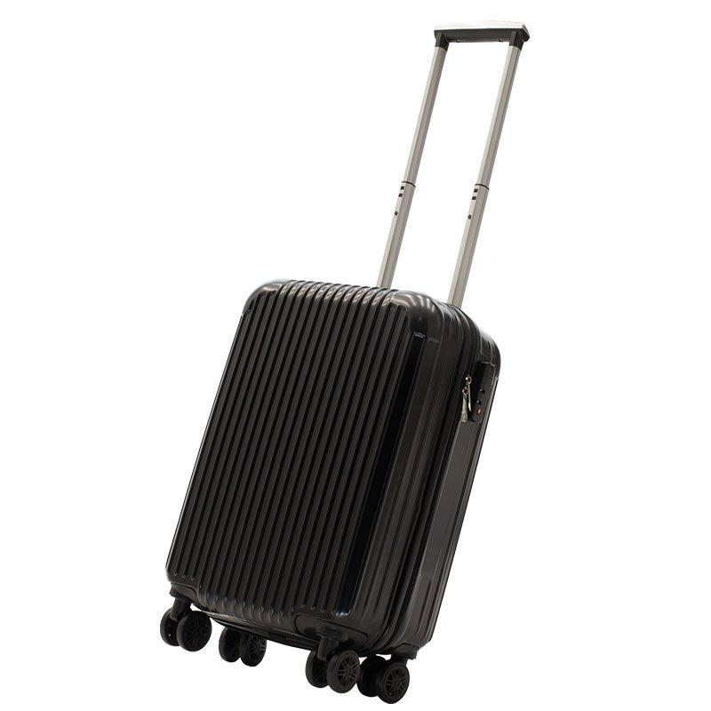 Βαλίτσα καμπίνας Lido pakoworld με 4 ρόδες σκληρή από ABS+PC μαύρο 35x23x56εκ