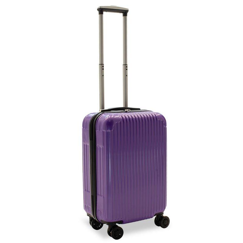 Βαλίτσα καμπίνας Lido pakoworld με 4 ρόδες σκληρή από ABS+PC μωβ 35x23x56εκ
