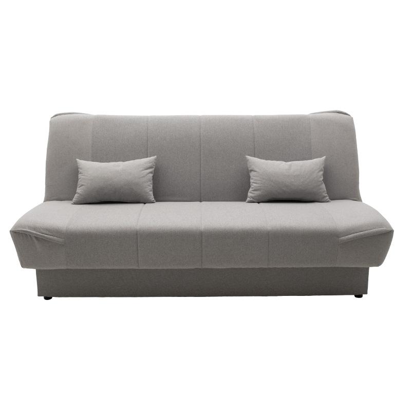 Καναπές-κρεβάτι Tina pakoworld 3θέσιος με αποθηκευτικό χώρο ύφασμα ανοικτό γκρι