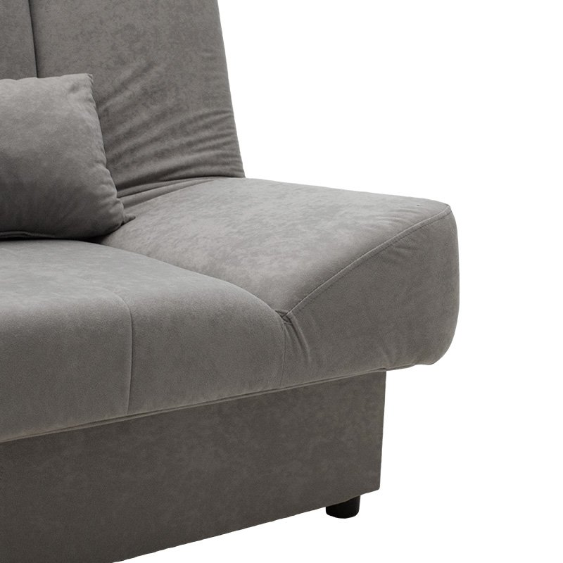 Καναπές-κρεβάτι Tiko pakoworld 3θέσιος με αποθηκευτικό χώρο ύφασμα γκρι