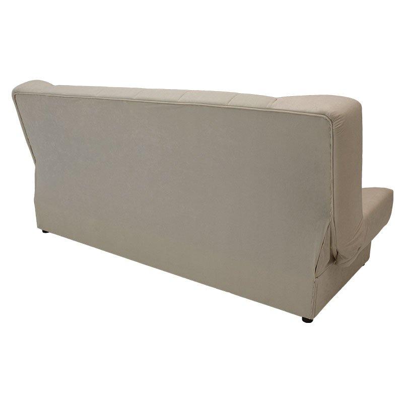 Καναπές-κρεβάτι Tiko pakoworld 3θέσιος με αποθηκευτικό χώρο ύφασμα μπεζ