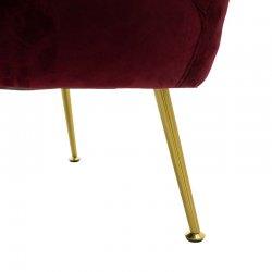 Πολυθρόνα Poison pakoworld με βελούδο χρώμα μπορντώ 78x71x69εκ