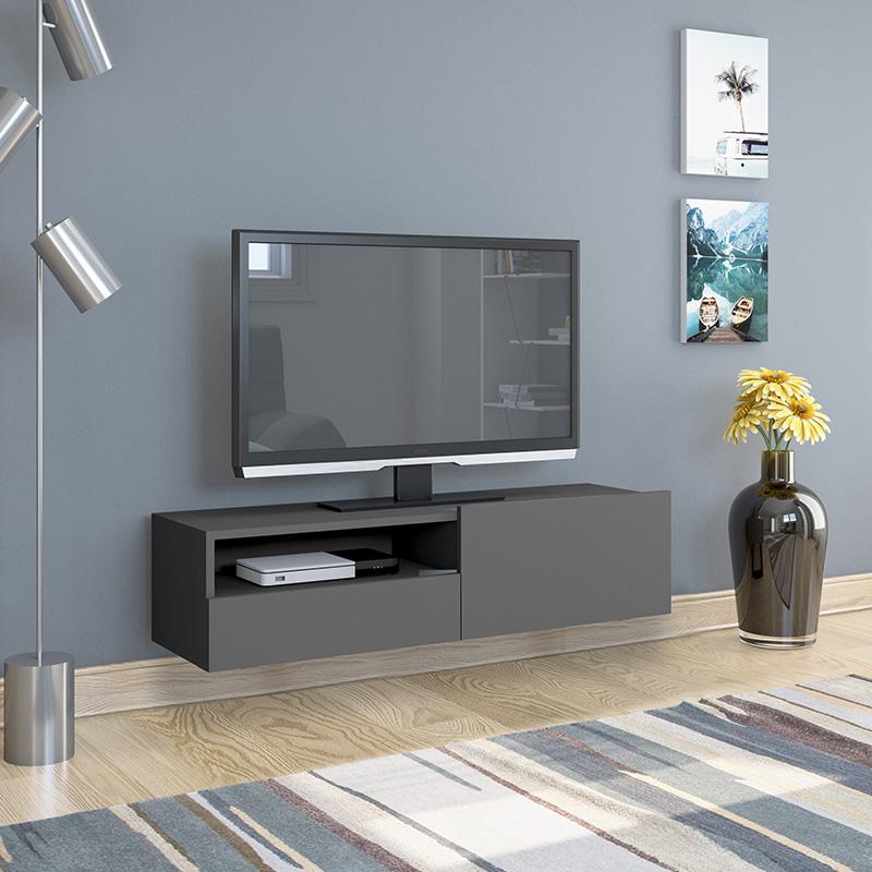 Έπιπλο τηλεόρασης Enjoy pakoworld κρεμαστό ανθρακί 120x35x31εκ
