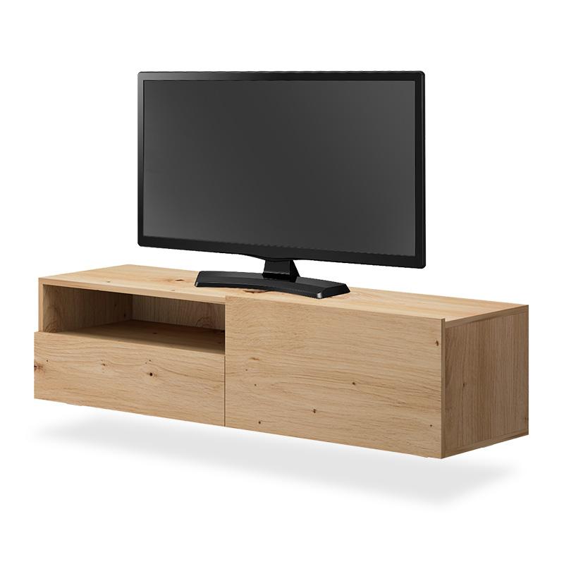 Έπιπλο τηλεόρασης Enjoy pakoworld κρεμαστό φυσικό 120x35x31εκ