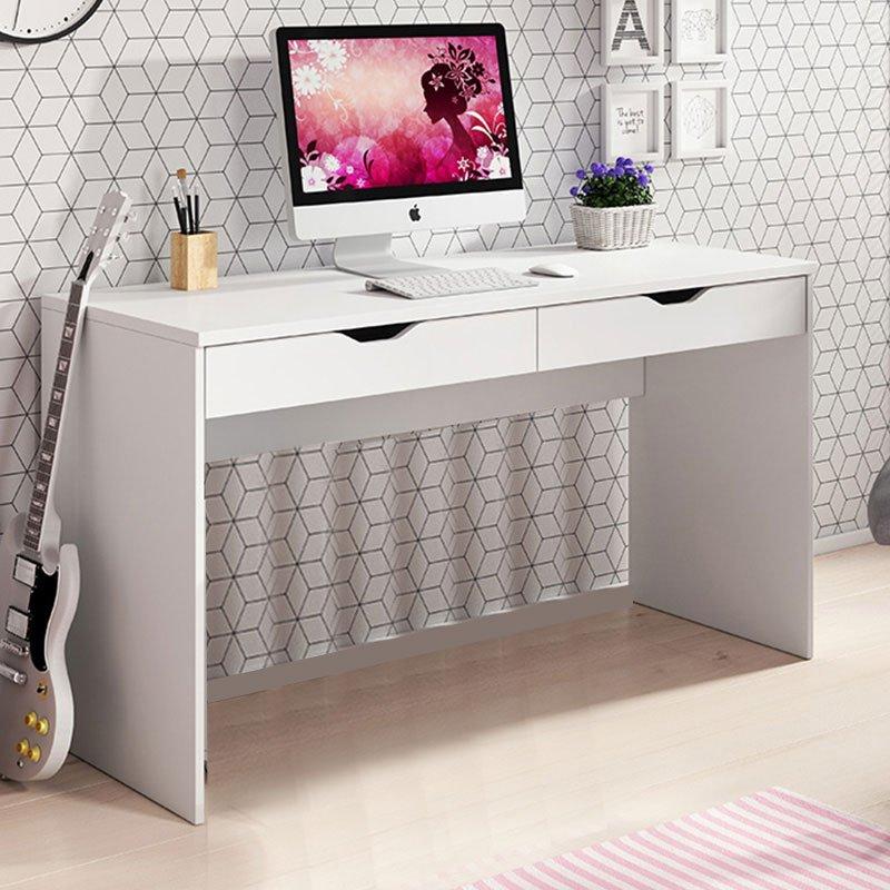 Γραφείο-κονσόλα Mati pakoworld χρώμα λευκό 138x50.5x76εκ