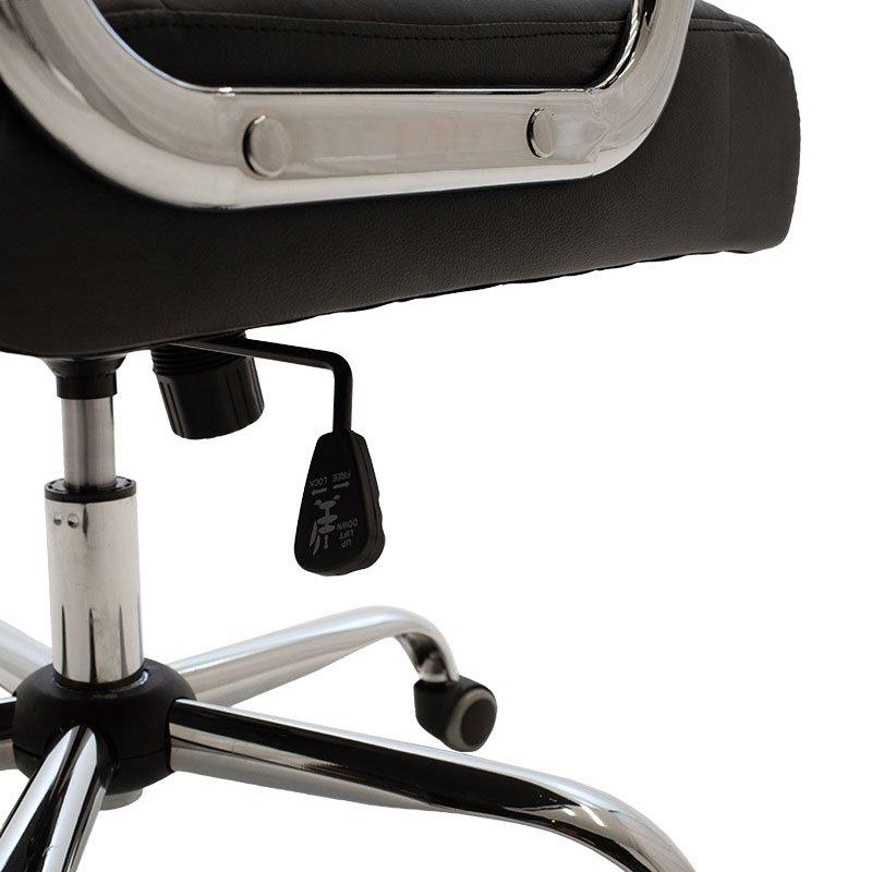 Καρέκλα γραφείου διευθυντή Legent pakoworld με pu χρώμα μαύρο