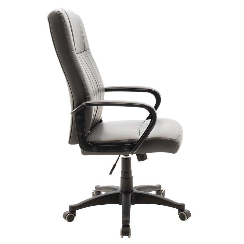 Καρέκλα γραφείου διευθυντή Roby pakoworld με pu χρώμα ανθρακί