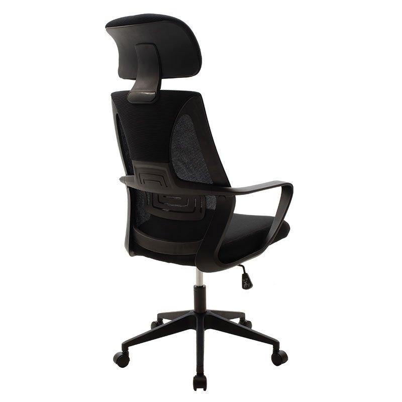 Καρέκλα γραφείου διευθυντή Dolphin pakoworld με ύφασμα mesh χρώμα μαύρο