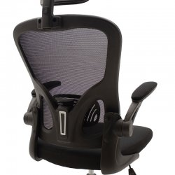 Καρέκλα γραφείου διευθυντή Ergoline pakoworld με ύφασμα mesh χρώμα μαύρο