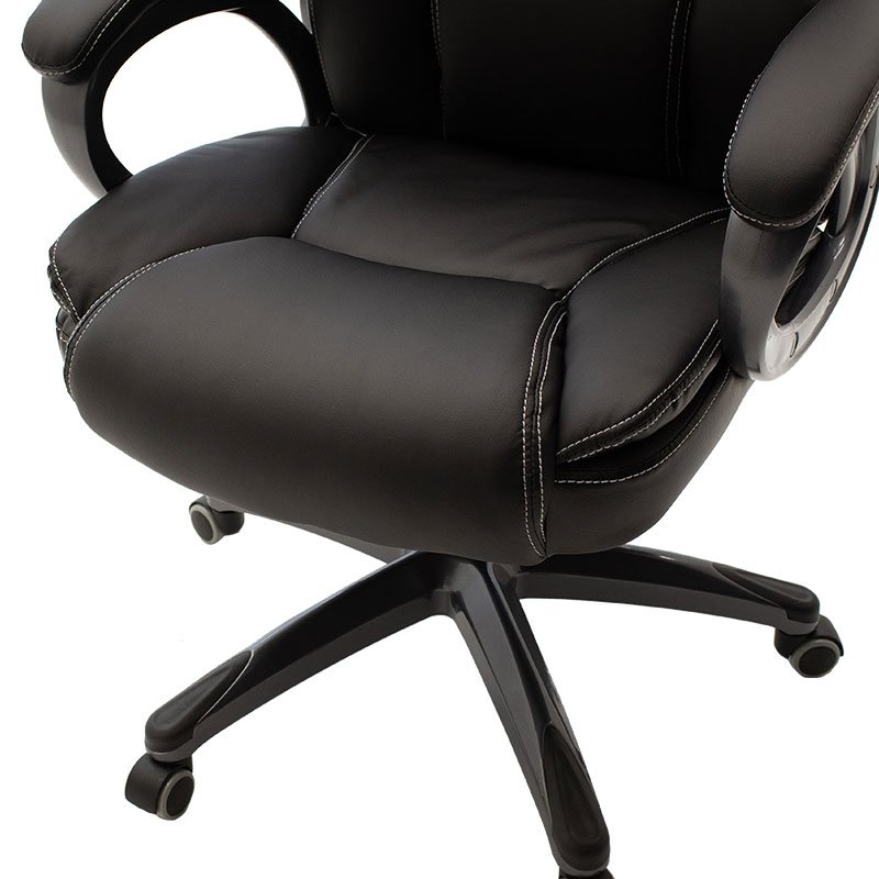 Καρέκλα γραφείου διευθυντή Serena pakoworld με pu χρώμα μαύρο
