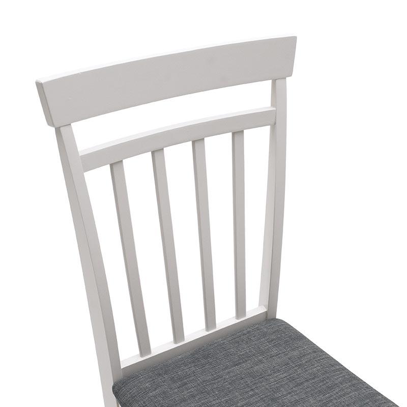 Tραπεζαρία Modus pakoworld σετ 5τμχ ανοικτό γκρι χρώμα - κάθισμα γκρι-ανθρακί 112x72x74εκ