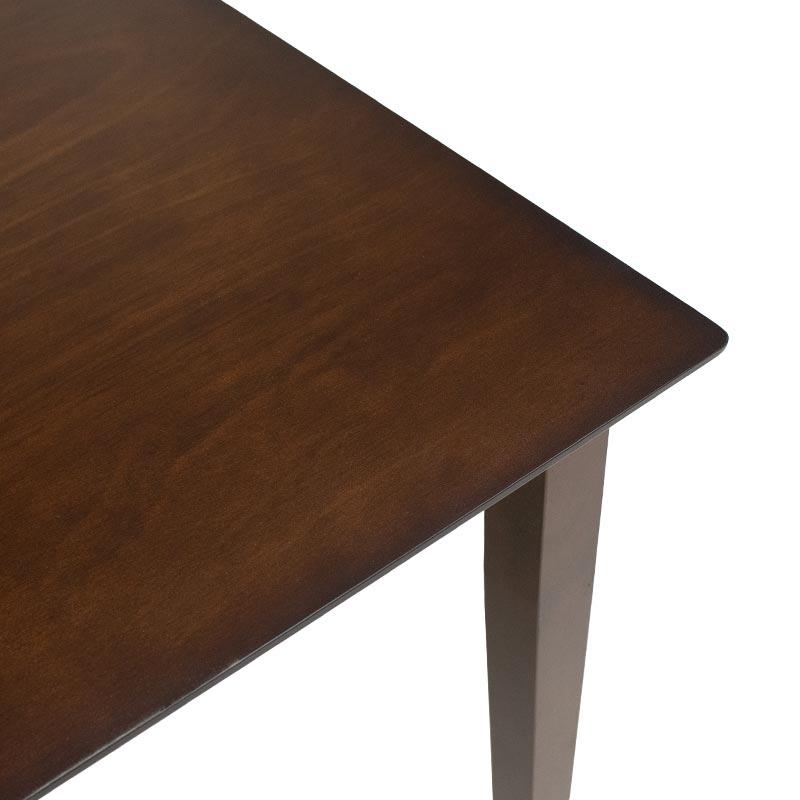 Tραπεζαρία Diego pakoworld σετ 5τμχ σκούρο καρυδί χρώμα - κάθισμα μπεζ 112x72x74εκ
