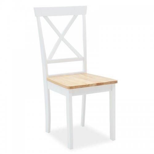 Καρέκλα Lars pakoworld ξύλο-MDF λευκό-φυσικό