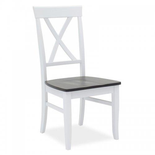 Καρέκλα Hug pakoworld ξύλο-MDF  λευκό-καρυδί