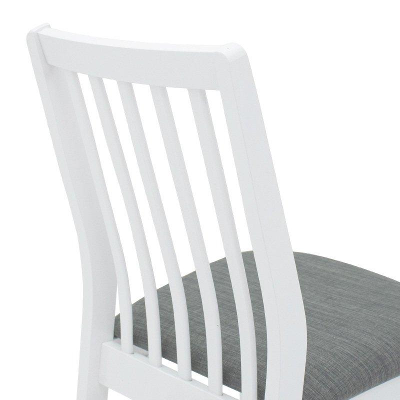 Καρέκλα Peak pakoworld ξύλο-MDF λευκό-ύφασμα ανθρακί