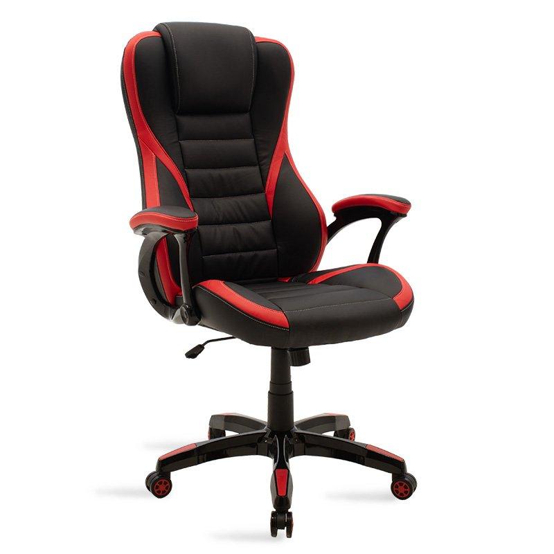 Καρέκλα γραφείου Starr gaming pakoworld pu μαύρο-κόκκινο