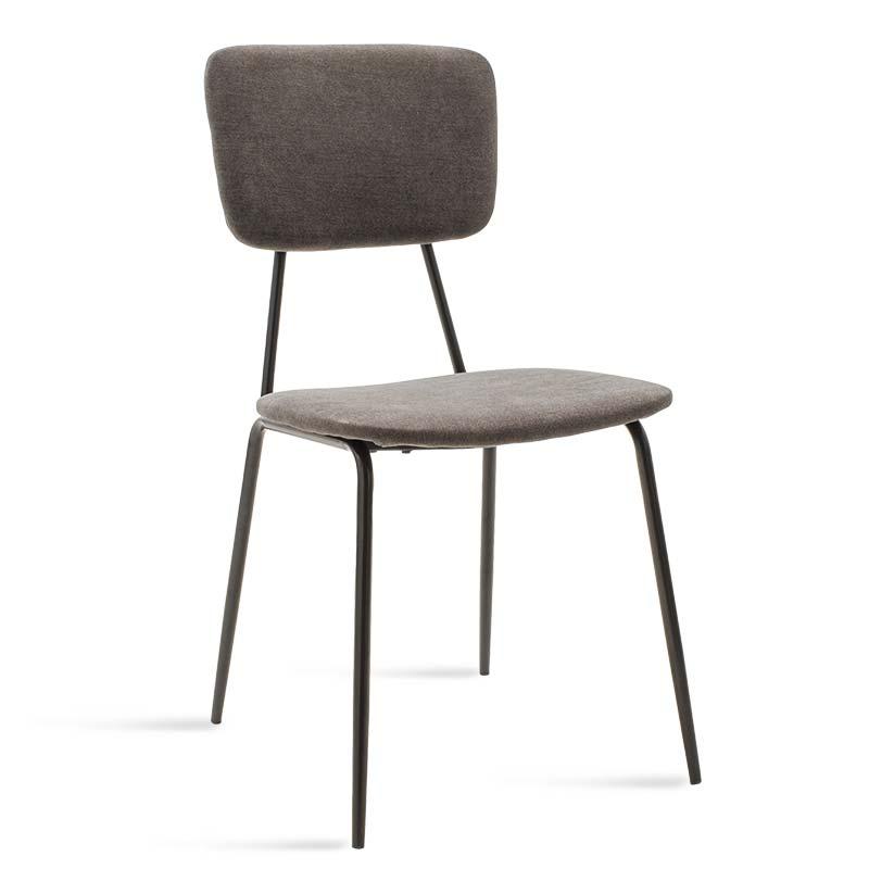 Καρέκλα Tania pakoworld μαύρο-ύφασμα ανθρακί