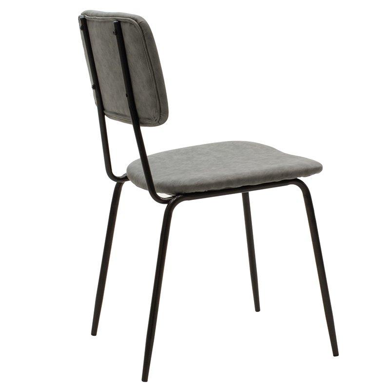 Καρέκλα Tania pakoworld μαύρο-pu κεραμιδί antique