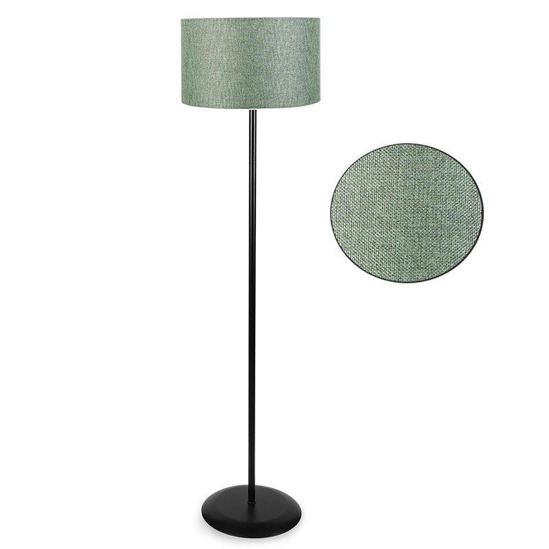 Μεταλλικό φωτιστικό δαπέδου PWL-0137 pakoworld E27 μαύρο-pvc καπέλο πράσινο Φ30x150εκ