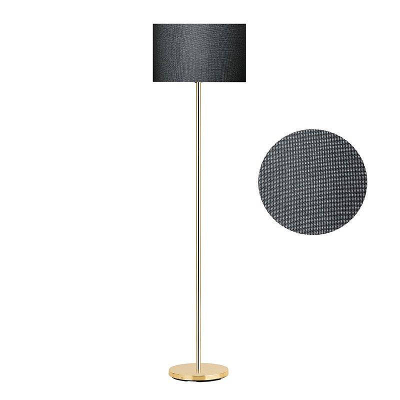 Μεταλλικό φωτιστικό δαπέδου PWL-0137 pakoworld E27 χρυσό-pvc καπέλο μαύρο Φ30x150εκ