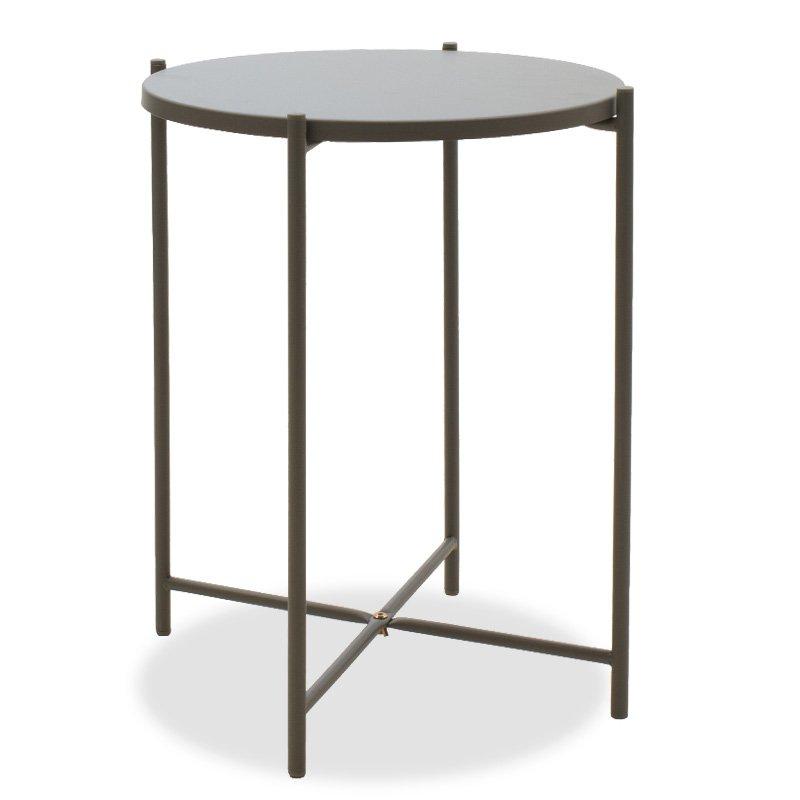 Βοηθητικό τραπέζι σαλονιού Lima pakoworld ανθρακί 43.5x43.5x53εκ