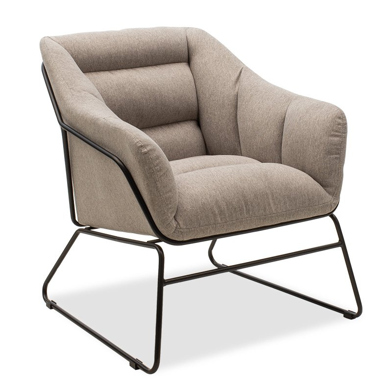 Πολυθρόνα Ethan pakoworld με ύφασμα χρώμα γκρι 66x70x75εκ