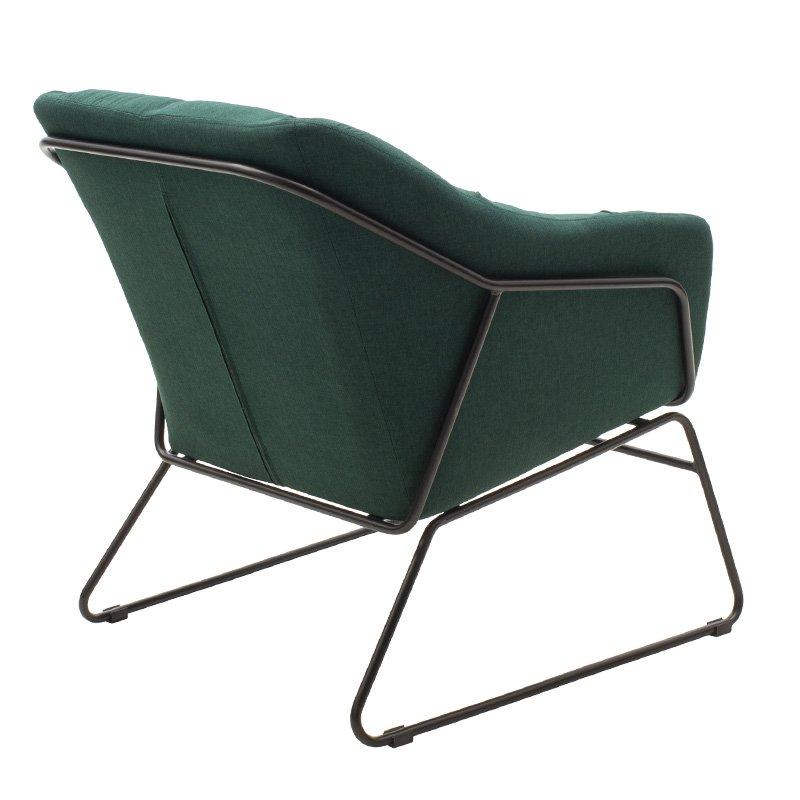 Πολυθρόνα Ethan pakoworld με ύφασμα χρώμα κυπαρισσί 66x70x75εκ
