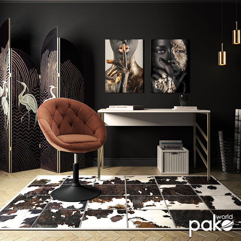 Πολυθρόνα Ivy pakoworld πτυσσόμενη με βελούδο χρώμα σάπιο μήλο 68x56x82-94εκ