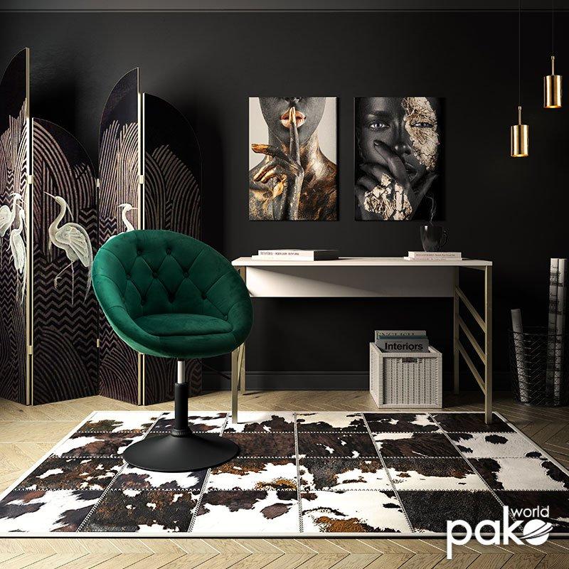 Πολυθρόνα Ivy pakoworld πτυσσόμενη με βελούδο χρώμα κυπαρισσί 68x56x82-94εκ