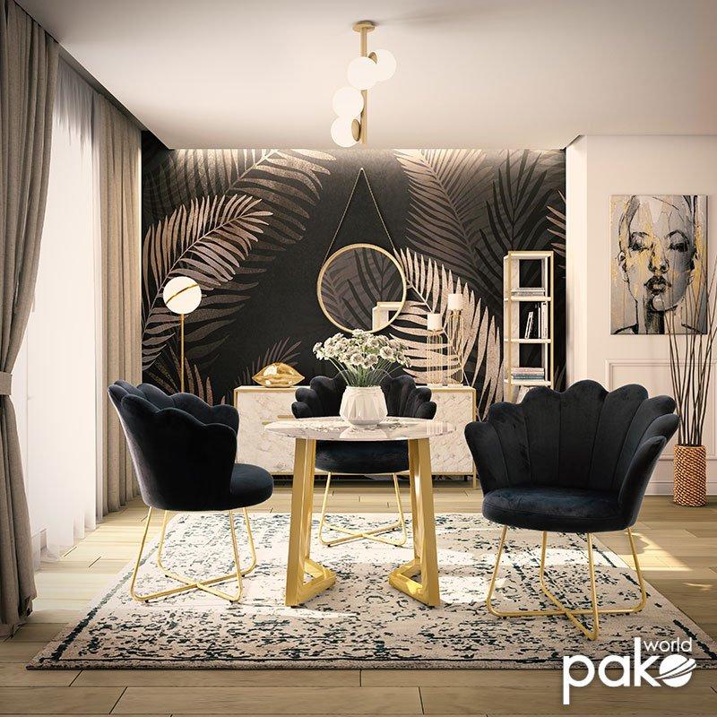 Πολυθρόνα Evi pakoworld με βελούδο χρώμα μαύρο 73x62x87εκ