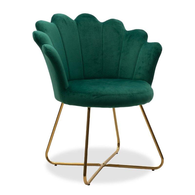 Πολυθρόνα Evi pakoworld με βελούδο χρώμα κυπαρισσί 73x62x87εκ