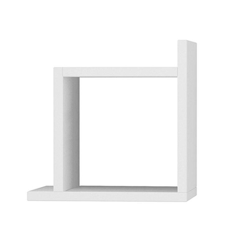 Ραφιέρα τοίχου Kutu pakoworld χρώμα λευκό 30x22x30εκ