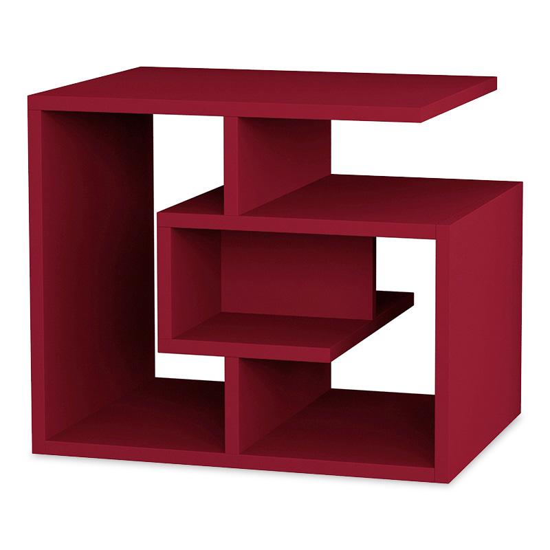 Βοηθητικό τραπέζι Labirent pakoworld χρώμα σκούρο κόκκινο 54x40x45εκ