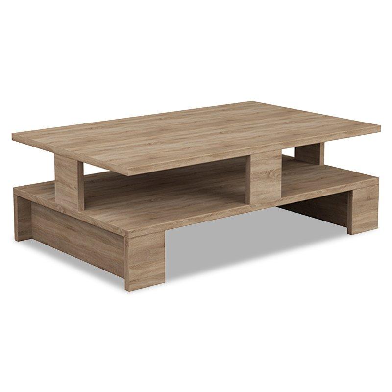 Τραπέζι σαλονιού Mansu pakoworld χρώμα φυσικό 80x50x27,5εκ