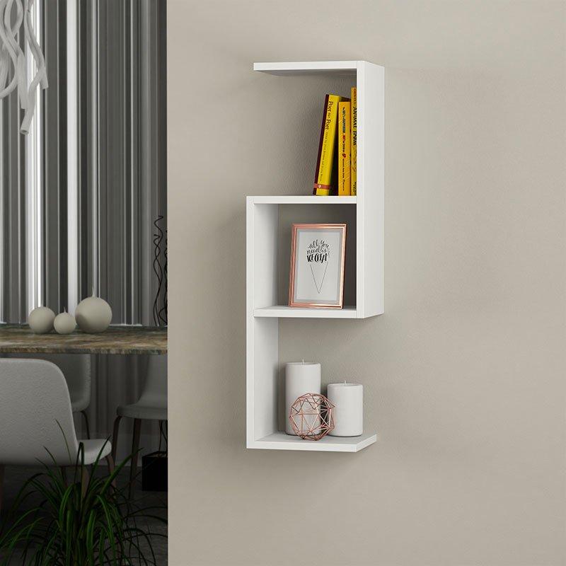 Ραφιέρα τοίχου Dibi pakoworld χρώμα λευκό 29x22x89εκ
