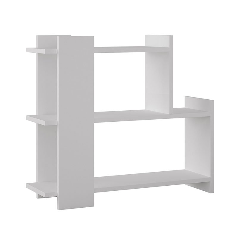 Βοηθητικό τραπέζι σαλονιού Mua pakoworld λευκό 77x26x68εκ
