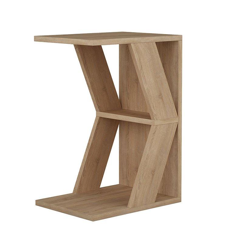 Βοηθητικό τραπέζι σαλονιού Naze pakoworld φυσικό 30x40x57εκ