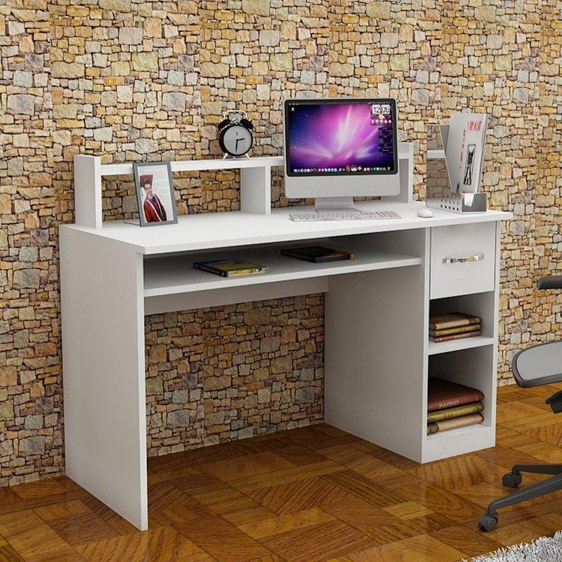 Γραφείο Mur pakoworld χρώμα λευκό 120x55x93.5εκ