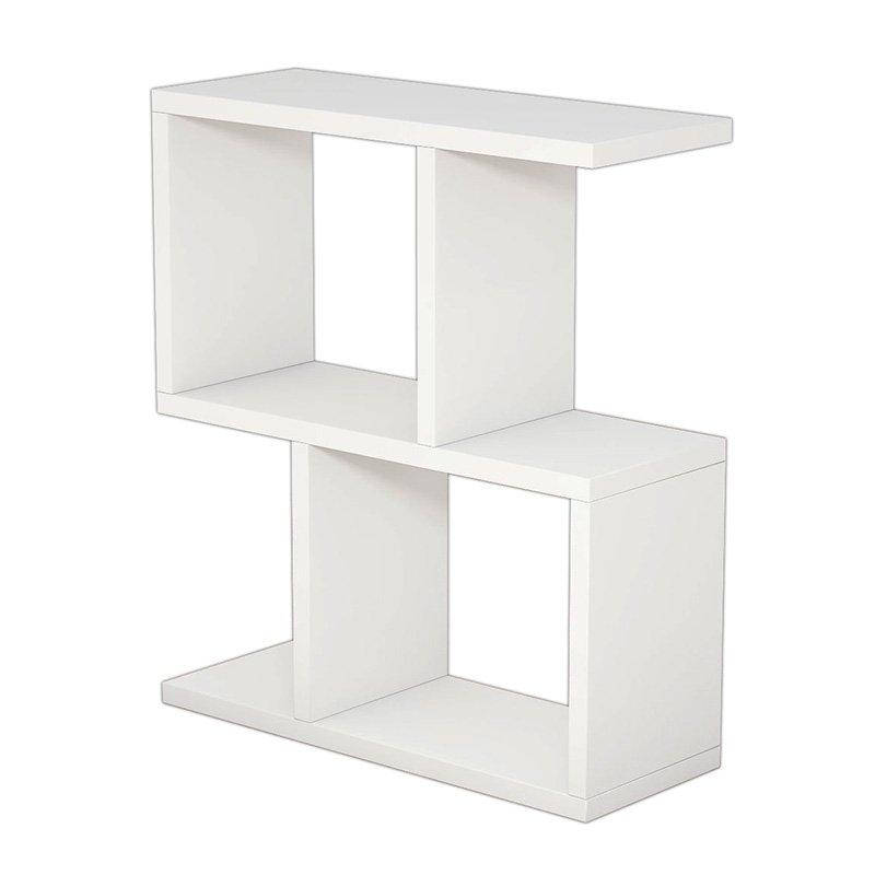 Βοηθητικό τραπέζι σαλονιού Zet pakoworld χρώμα λευκό 51x17x45εκ