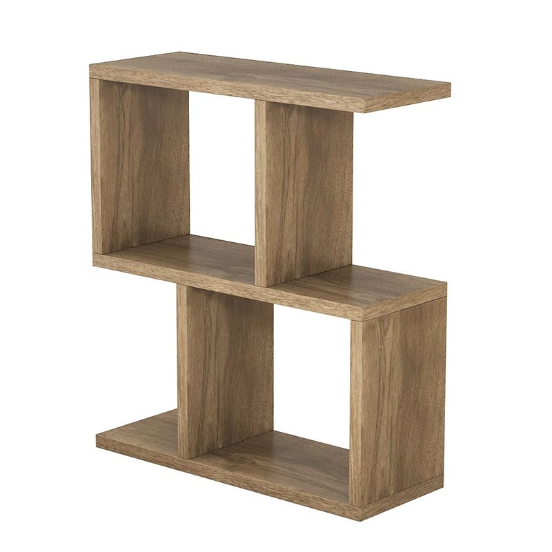 Βοηθητικό τραπέζι σαλονιού Zet pakoworld χρώμα καρυδί 51x17x45εκ