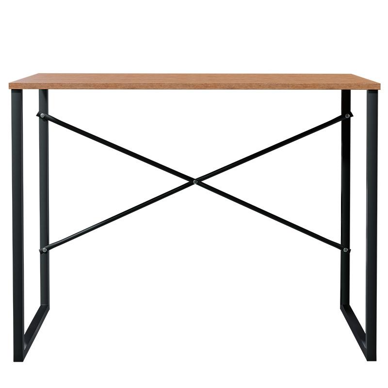 Γραφείο Zayn pakoworld χρώμα καρυδί-μαύρο 90x60x70εκ