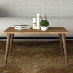 Τραπέζι σαλονιού Felin pakoworld χρώμα καρυδί-καφέ 70x42x39εκ