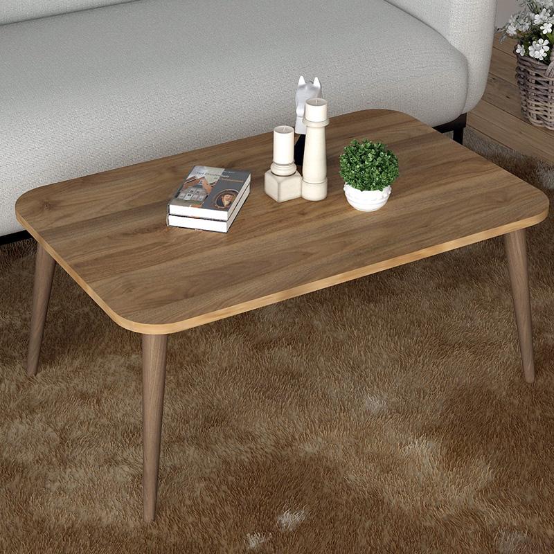 Τραπέζι σαλονιού Tobit pakoworld χρώμα καρυδί-καφέ 70x42x39εκ