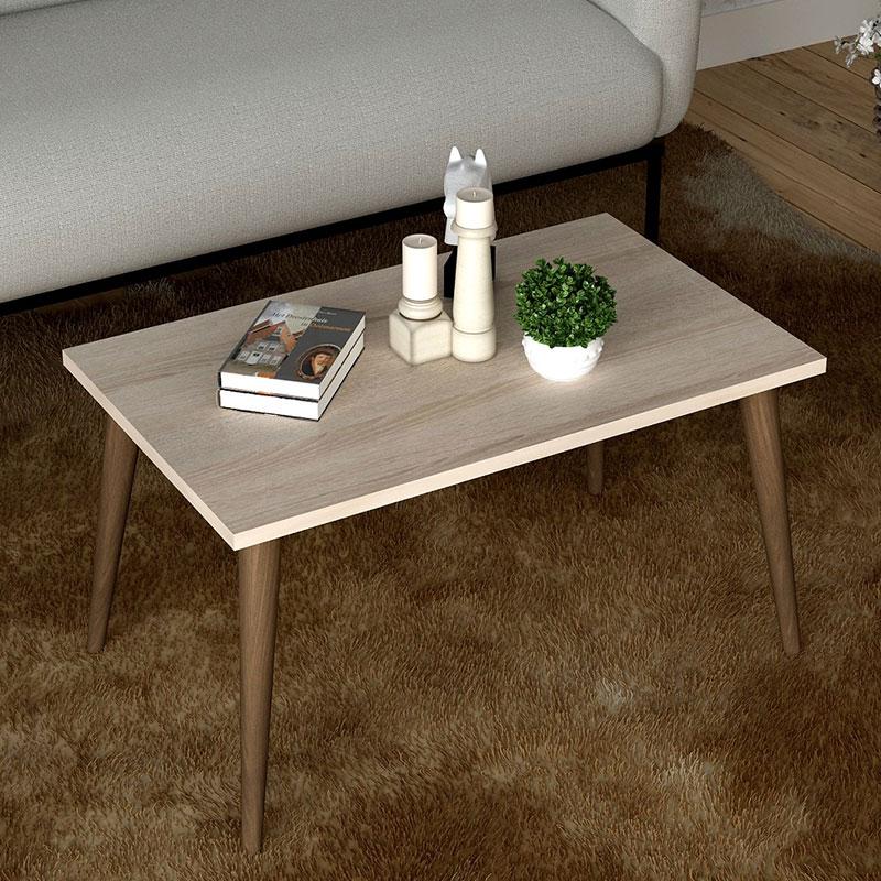 Τραπέζι σαλονιού Tobit pakoworld χρώμα sonoma-καφέ 70x42x39εκ